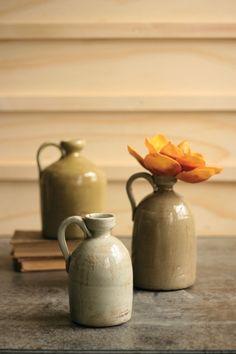 set of three ceramic jugs   $89.00
