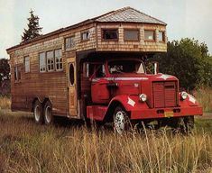 A few images from the 1979 Rolling Homes, Handmade Houses on Wheels by Jane Lidz, a rare and valuable book nowadays. I think most of these trucks were from the Eugene, Oregon area.  http://thistinyhouse.com/2010/handmade-rolling-homes/