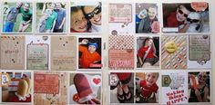 Project Life Layouts by Nichol using lots of products that can be found in the Simon Says Stamp Store.  2013