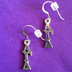 Licensed Alpha Gamma Delta Earrings on Sterling by AnnPedenJewelry, $9.99