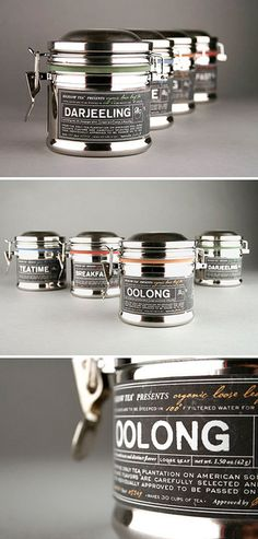 tea labels on a jar that kinda reminds me of chalkboard writing. This would work great for a design system that included chalkboard signs in a tea/coffee shop