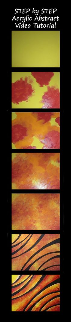 Abstract Arches Step by Step Acrylic Painting on Canvas VIDEO TUTORIAL: https://youtu.be/o-wHzwm2OJ4  #Abstract #Painting #Acrylics