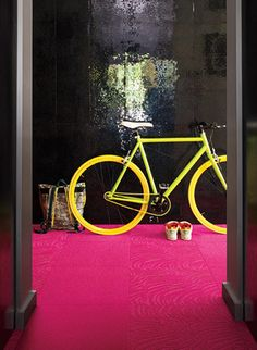 I'm trying to embrace some crazy colors in my house. This bike would be perfect.