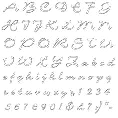 Old English Letters Outline Template on