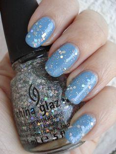 china glaze techno (the glitters)