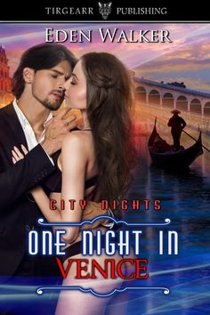 ONE NIGHT IN VENICE, City Nights book 32, by Eden Walker . . . Kate Pollock wins an art scholarship to Venice. On her first day, she meets sex-on-legs, Martinez Di Ser Piero, her Practicals tutor. The last thing she expects is a torrid love affair with him. Following a dry spell in his career, Kate inspires Martinez to paint again. Kate thinks she's falling in love with Martinez—could he be 'the one', or will his secret past break her heart?