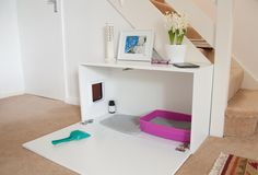 Cat litter box concealed