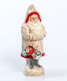 Add a festive touch to your space with this figurine boasting an adorable Belsnickel design that's brimming with holiday cheer. Father Christmas, Christmas Time, Christmas Decorations, Christmas Ornaments, Holiday Decor, Santa Figurines, Glitter Houses, Classic House, Paper Mache