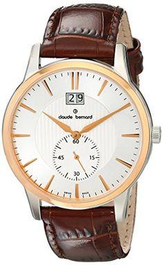 Claude Bernard 64005 357R AIR Uhr Leder braun silber Classic - http://uhr.haus/claude-bernard/claude-bernard-64005-357r-air-uhr-leder-braun