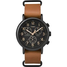 Check out Timex Weekender&#... that is now available at Outdoorsman USA! See it on our site here. http://outdoorsman-usa.myshopify.com/products/timex-weekender-174-chrono-oversized-watch-black-dial-brown-strap
