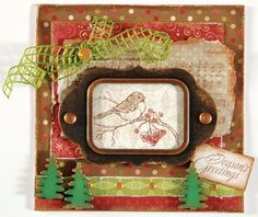Christmas Charm Stamp by Stampendous!  FREE project idea at www.paperwishes.com