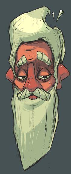 old man illustration - Pesquisa Google