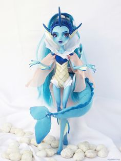 Vaporeon Custom Lagoona Blue (13 Wishes) Pokemon Doll OOAK by Dollightful