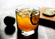 Nor'easter 1 ounce maple syrup 1 ounce lime juice, or more to taste 4 ounces bourbon 2 ounces, approximately, cold ginger beer Lime slice