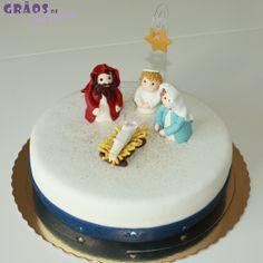 Presépio | 3D | Natal | Grãos de Açúcar - Bolos decorados - Cake Design