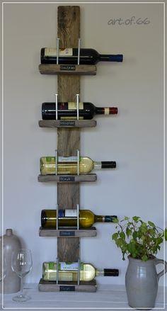 Weinregal aus Brettern, palletts