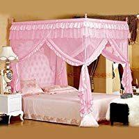 Vier Eckpost Bett Baldachin Vorhang Moskitonetz Schlafzimmer