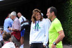 Amelie Mauresmo as a coach at Wimbledon