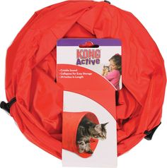Kong Company-Active Cat Tunnel- Red 24 In