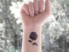 Temporary Tattoo  Rose  Rose Tattoo  Floral by SymbolicImports, $3.00