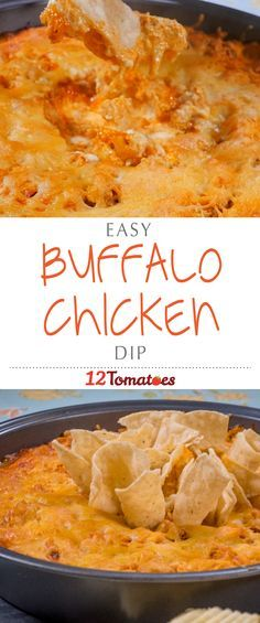 Buffalo Chicken Dip   Hot and spicy and packed with chicken and cheese, this dip is exactly what you need…just be warned: the people will gather 'round, so make sure to get your fill early on – this stuff is addictive!