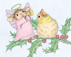 """Amanda & friend from House-Mouse Designs® featured on the The Daily Squeek® for December 18th, 2013. Click on the image to see it on a bunch of really """"Mice"""" products."""