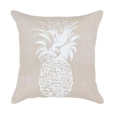 Pineapple hand screen printed cushion cover These gorgeous cushion covers are handmade from high quality natural eco-friendly linen cotton and hand screen printed Concealed invisible zip, piping edge and lined inside SIZE: 55 x 55 cm Boho Cushions, Printed Cushions, Cushions On Sofa, Throw Pillows, Living Room Sofa, Cushion Covers, Screen Printing, Prints, Handmade