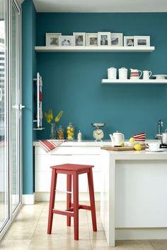 Cuisine : peinture couleur avec option bonne humeur - CôtéMaison.fr