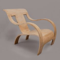 A WHITE TINTED BENT PLYWOOD ARMCHAIR by GERALD SUMMERS - Object of the Year - Country Life/LAPADA