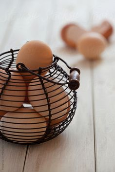 eggs in a basket by FedericaDM | Stocksy United