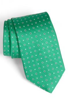 $49, Woven Silk Tie Green Regular by Nordstrom. Sold by Nordstrom. Click for more info: http://lookastic.com/men/shop_items/115566/redirect