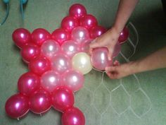 Balloon decoration ideas - kids kubby, This is an easy yet striking balloon decoration without helium: pin balloons upside down to the ceiling in a large bunch over the party table!. Description from browniewed.com. I searched for this on bing.com/images