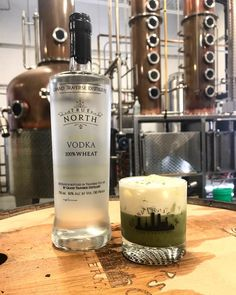 Made with our Wheat Vodka, matcha, vanilla liqueur, and cream, shaken and served on the rocks. Vanilla Liqueur, Irish Rovers, Tasting Room, Distillery, Matcha, Vodka Bottle, Rocks, Cocktails, Alcohol
