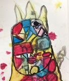 Grade 1 Jean Dubuffet Inspired Painting