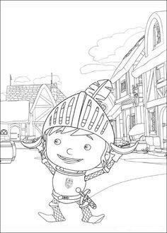 Desenhos para pintar Mike o Cavaleiro 4