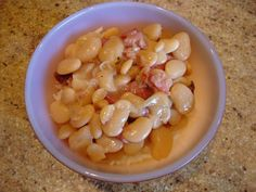 Baby Limas with Ham.  Slow-cooker recipe.