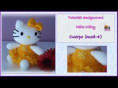 Tutorial amigurumi Hello Kitty - cuerpo (mod-4) - YouTube