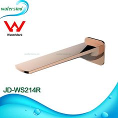 Rose Gold Plated Spout Basin Water Outlet Tap