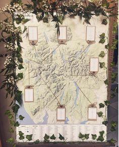 Lake District map table plan Napkin Ideas, Wedding Table Names, Wedding Inspiration, Wedding Ideas, Table Plans, Wedding Wishes, Lake District, Rustic Wedding, Vintage World Maps