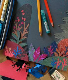 Diy arts and crafts, art sketchbook, wedding paper, art plastique, 3d Paper Art, Paper Collage Art, Paper Artwork, Diy Paper, Art Carton, Origami, Cut Paper Illustration, Art Plastique, Elementary Art