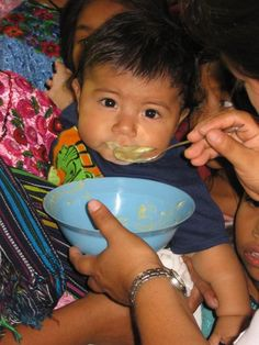 A Guatmalan baby eating. Baby Eating, Lunch Time, Latin America, How Are You Feeling, Children, Boys, Kids, Sons, Kids Part