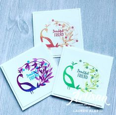 Card Making Inspiration, Making Ideas, Bird Cards, Beautiful Friend, Animal Cards, Color Card, Stamping Up, Creative Cards, Homemade Cards