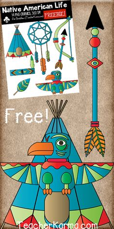 FREE! Native American Life Clipart! You will LOVE these ** 14 ...