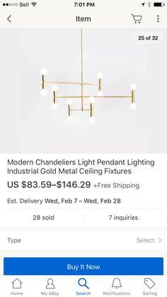 Via ebay : chandelier over dining room idea