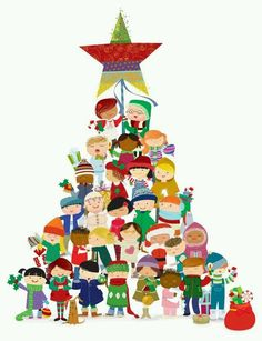 Christmas Trees For Kids, Christmas Mood, Noel Christmas, Christmas Wishes, All Things Christmas, Vintage Christmas, Christmas Crafts, Christmas Decorations, Xmas