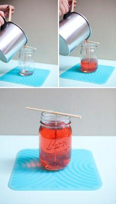 DIY Mason Jar Candles :) - Click image to find more DIY & Crafts Pinterest pins