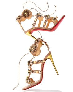 e3e3182f4dc2 Christian Louboutin - Kaleikita Spiked Lace-Up 100mm Red Sole Sandal