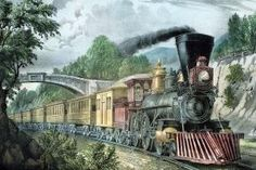 Why We Have Time Zones and How the Railroads Delivered Them: The Express Train by Currier and Ives