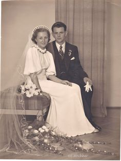 1938 bride and groom