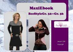 MaxiEbook  BeeStyle Gr. 32 - Gr. 56 von BeeKiddi auf DaWanda.com